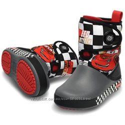 Детские ботинки сапожки Crocs Cars Тачки, c6 21, 22, по стельке 13, 5см