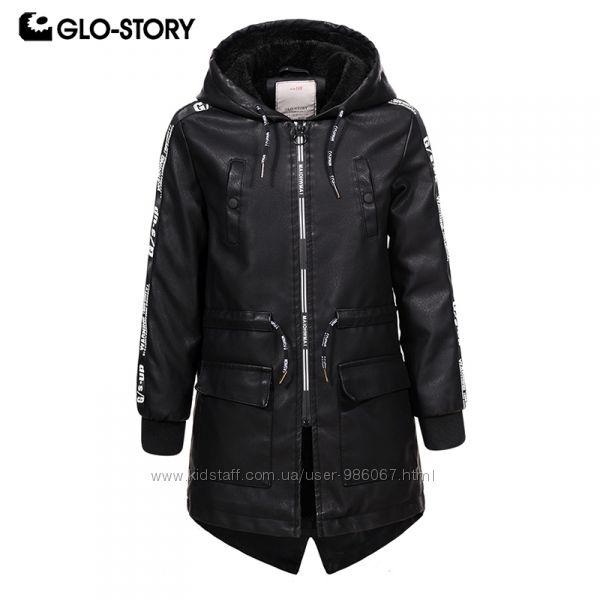 Glo-story Курточка-парка матовая из кожзама для мальчика