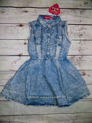 Джинсовое платье для девочки S&D 4, 6, 8, 10. 12 ЛЕТ