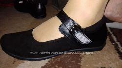 Туфли для девочек Т-2d Чёрные. Кожаные.