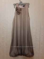 Шелковое платье zara women размер S.