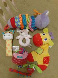Набор фирменных погремушек Bright starts, Mothercare, Playgro.