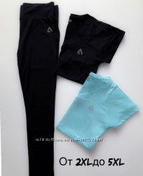 Батал большие лосины футболка для фитнеса ProFit Турция От 2XL до 5 XL
