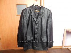 Пиджак из кожзама, большой размер