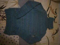 Вязаный очень теплый свитер для подростка на рост 158 см