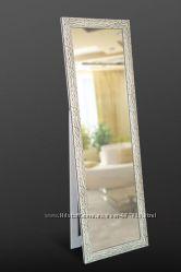 Напольное белое зеркало N4209