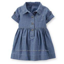 782aa179958 Летнее джинсовое платье Carters для девочки