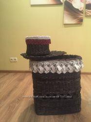 Корзины, коробки, подставки из бумажной лозы