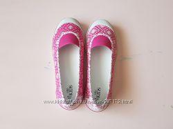 Розовые мокасины M&S, стелька 24, 5-25 см