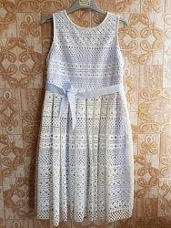 Белое кружевное платье Monsoon, 13 лет, 152-158 см