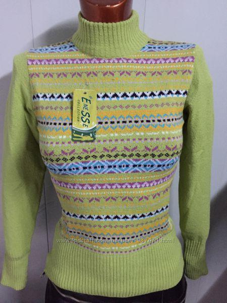 Женские шерстяные свитера - гольфы. Турция