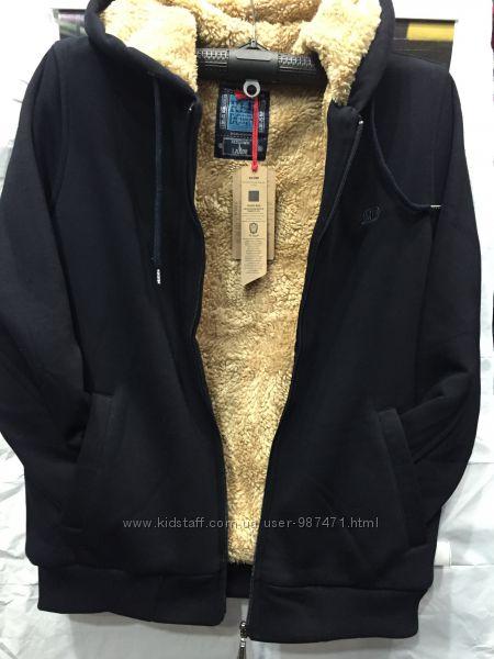 Тёплые турецкие мужские толстовки- кофты на меху