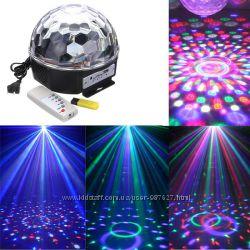 Магический светодиодный шар с пультом и флешкой