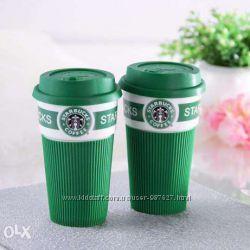 Керамическая термокружка чашка Starbucks Eco Life