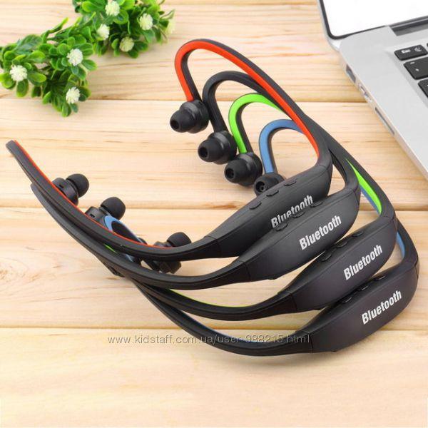 Наушники SPORT беспроводные MP3 плеер FM  USB кабель