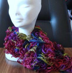 Французский ажурный шарфик. Ручная работа