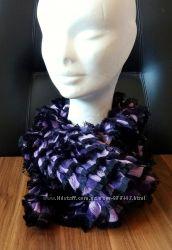 Ажурный шарф ручной работы