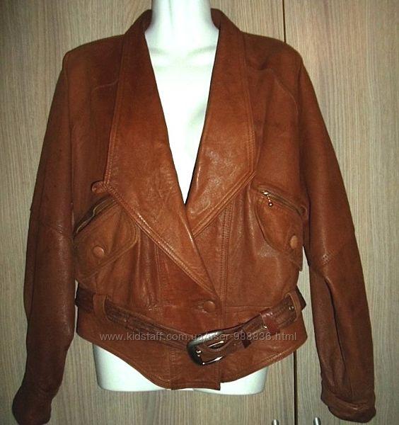 куртка кожаная женская размер S-44-46