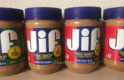 арахисовая паста JIF с кусочками орешков