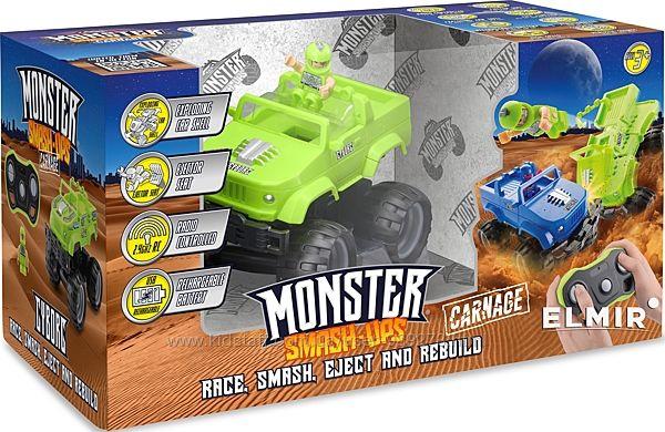 Машина на радиоуправлении, монстртрак, lego, monster smash-ups, джип,