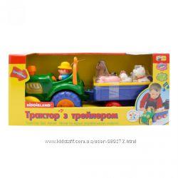 Трактор фермера, kiddieland, ноев ковчег, пожарная машина, самолёт, паровоз