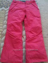 Малиново-розовые лыжные брюки