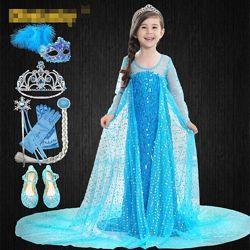 Нереально красивое платье Эльзы. Комплект из 7 единиц