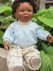 Кукла-пупс лялка фарфоровая коллекционная негритенок Ashton Drake  1996