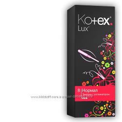 Тампони Kotex Lux Normal 3 капли с аппликатором. 8 шт. в уп-ке