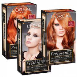 Краска для волос LOreal Preference. Палитра цветов