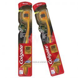 Зубные щётки Colgate 360 Золотая С Древесным Углем, мягкие