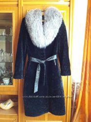 Шуба-пальто из астрагана стриженого мутона