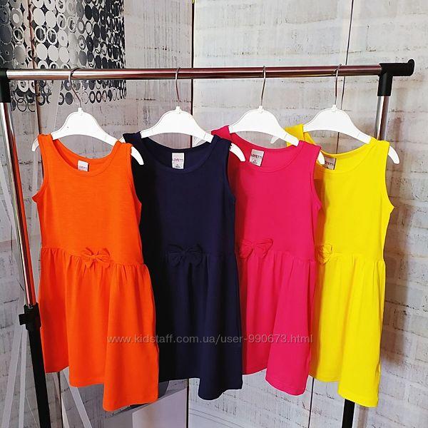 Однотонные платья Lovetti 1-8 лет