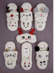 Домашние тапочки-носочки с повязкой для сна