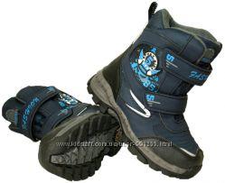 Детские зимние ботинки с тормозами для мальчика, размеры 33-38, 3 расцветки