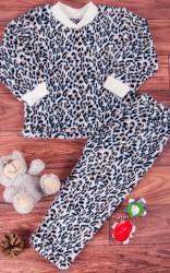 Пижама для девочки теплая велсофт рост 110