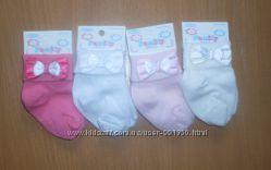Носочки с бантиком для новорожденных Турция