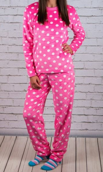 Пижама подростковая велсофт теплая для  девочки
