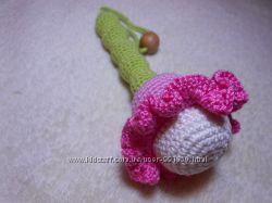 Экоигрушка 3 в 1погремушка, игрушка, грызунок Handmade Цветок