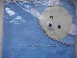 Уголок для купания новорожденным  махра Мишка 80х80