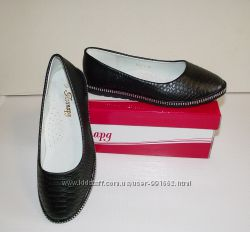 Туфли слиперы балетки для девочек черные 32 - 36