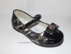 Туфели для девочек стильные черного цвета 25-27