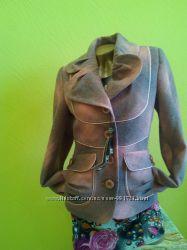 Великолепное шерстяное пальто. Сирень. Украина р. 44