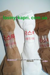 Капроновые носочки черные, белые, бежевые