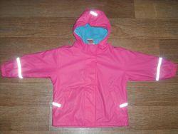Прорезиненная куртка-дождевик на флисе Papagino р. 98-104