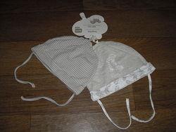Тонкие трикотажные шапочки на завязках 2 шт. Lupilu р. 86-92