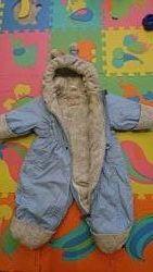 Зимний сдельный комбинезон Lenne лёгкий и тёплый - 74 размер