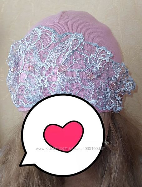 Nikola нарядная шапочка со стразами и стеклярусом swarovski