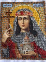 Картина бисером царица Тамара
