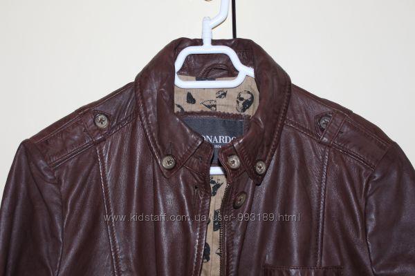 Кожаная куртка Leonardo Италия